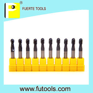 Standard Size Tungsten Carbide Ball Nose Endmill for Copper Milling pictures & photos