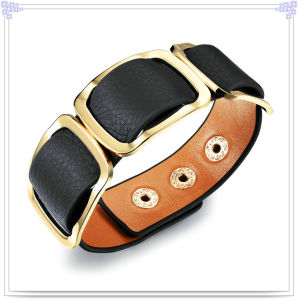 Fashion Jewelry Leather Jewelry Leather Bracelet (LB289)