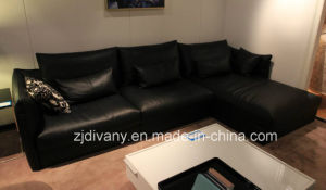Modern Home Sofa Leather Sofa 3 Seats Sofa Fabric Sofa (D-74-E+B+D) pictures & photos