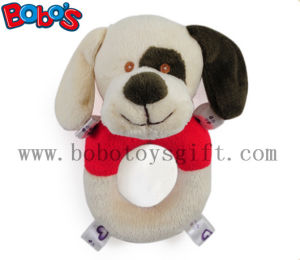 "6"" Plush Stuffed Soft Dog Handbell Toys for Infant pictures & photos"