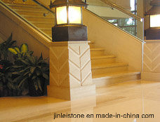 Modern Indoor Solid Kerbstone Granite Stair with Railing pictures & photos