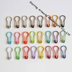 22mm Colorful Metal Steel Pear Bulb Shaped Hang Tag Safety Pin