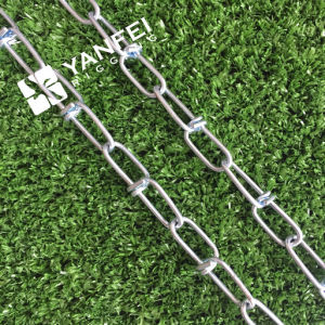 Galvanized Steel DIN5686 Knotted Link Chain pictures & photos