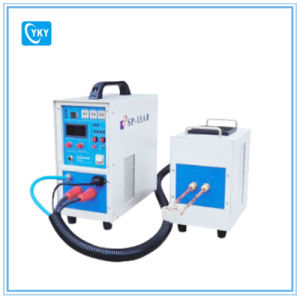 15kw (30-80kHz) Dual Station Bench Top Induction Heater with Time Controller pictures & photos