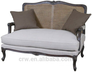 Great Nice Luxury Two Seater Sofa Furniture with Rattan Back pictures & photos