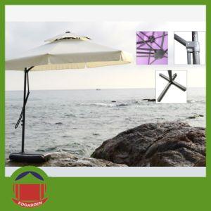 Rond Umbrella Luxury Outdoor Garden Light Umbrella Parasol Solar pictures & photos