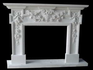 Flower Carving Fireplace (FRP328) pictures & photos