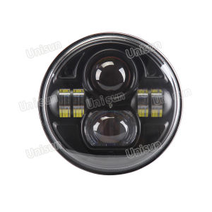 12V 73W Round High Low Beam LED Truck/Car/Auto Headlight pictures & photos