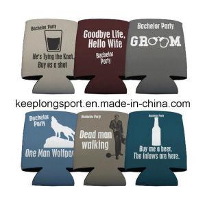 Folded Style Neoprene Can & Bottle Cooler, Neoprene Bottle&Can Holder