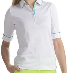 Simple Design Good Quality Short Sleeves Plain Women′s Polo Shirt pictures & photos