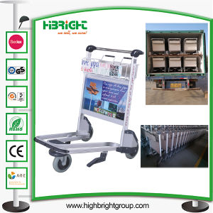 4 Wheel Hand Brake Airport Luggage Trolley Carts pictures & photos