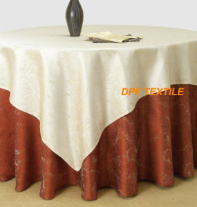 100% Polyester Table Cover (DPR2113) pictures & photos
