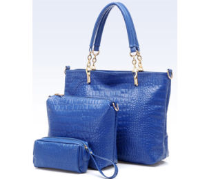 Fashion Leather Ladies Handbag Set (H80435) pictures & photos