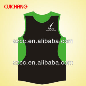 Singlet, Tank Top, Wholesale Polyester Heat Transfer Custom Design Gym Singlets Bx-039 pictures & photos