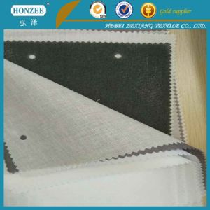 Twill 100% Polyester Textile Fabric for Cloth Woven Fusible Interlining pictures & photos