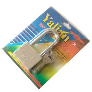 Top Security 50mm Long Shackle Nickle Plated Vane Key Padlock