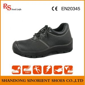 Ce Certificate Black Buffalo Leather ESD Chef Safety Shoes RS046 pictures & photos