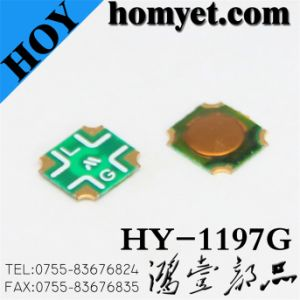 Manufacturer Round Button Tact Switch with 6*6*0.5mm 4pin SMD (HY-1197G) pictures & photos