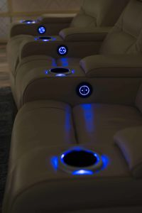 Home Cinema Leather Sofa 795# pictures & photos