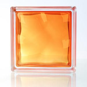 House Decorative Beautiful Orange Red Glass Brick pictures & photos