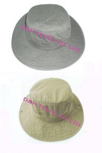 Best Big Brim Washed Cotton Bucket Sun Hat Dh-Lh7201 pictures & photos
