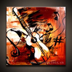 Abstract Musical Instrument Oil Painting for Wall Decoratives