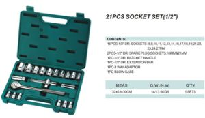 "21 Piece Combination Socket Wrench Set (1/2"") , Combination Set, Socket Set (WTYD-1008) pictures & photos"