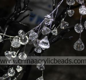 Faux High Quality Crystals Diamond Bead on Wire Strands Wired Branch Crystal Garland Flexible Wire for Wedding Centerpiece