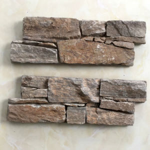 Rusty Quartzite 100% Natural Stone Cement Wall Panel pictures & photos