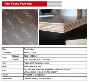 Marine/WBP Plywood/Film Faced Plywood for Construction pictures & photos