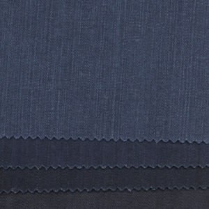98%Cotton 2%Elastane Slub Indigo Denim Fabric 11oz, Spandex Denim Fabric pictures & photos