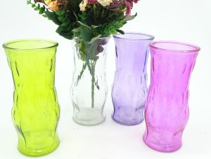 Rural Colored Glas Jar Shabby Style Glass Vase pictures & photos