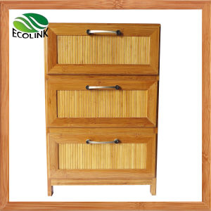 Bamboo 3 Drawer Storage Chest for Bedroom pictures & photos