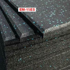 1m*1m Rubber Flooring/Ruber Mat/Rubber Tiles Black with Blue Spot pictures & photos