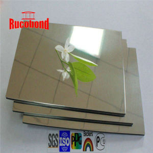 Gold Silver Mirror Aluminum Composite Panel pictures & photos
