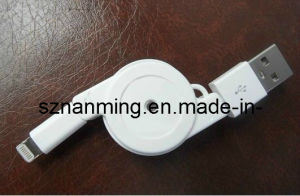 Lightning to USB Retractable Cable for iPhone 5 pictures & photos
