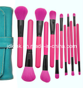 12PCS Peachblossom Makeup Brush Set with PU Pouch (JDK-BSMS-941)