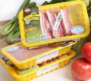 Clear Black Blue Green Colors Customized Meat Packaging Sealable Plastic Tray with Lid pictures & photos