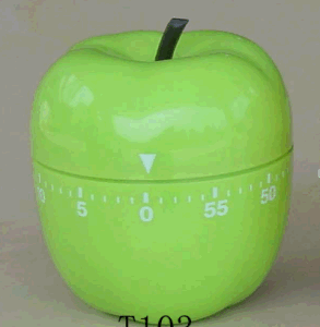 Green Apple Shape Mechanic Timer Plastic Material pictures & photos