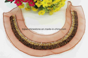 Sew on Tube Beads Jewelry Crystal Neckline Rhinestone Applique (TA-028) pictures & photos