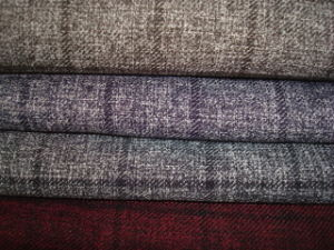 Wool Like Heather Check Suit Fabric pictures & photos
