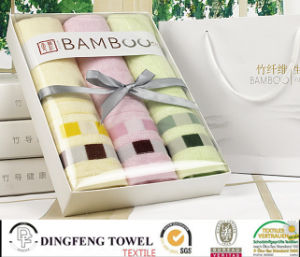 Top Grade Yarn Dyed Series Bamboo Towels Set pictures & photos
