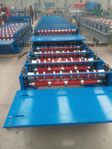 Double-Deck Roll Forming Machine with Hydraulic Cutting Device pictures & photos