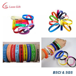 Fatory Cheap Customized Logo Events Silicon Bracelet Wristband pictures & photos