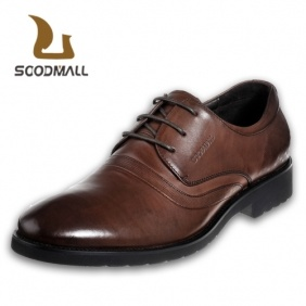 Men′s First Layer Leather Genuine Shoes