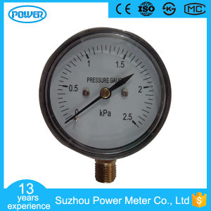 60mm 2.5kpa Chromeplate Bottom Connection Bellows Pressure Gauge pictures & photos