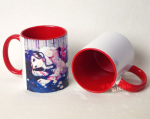 11oz Ceramic Red Inner & Rim Color Mug pictures & photos
