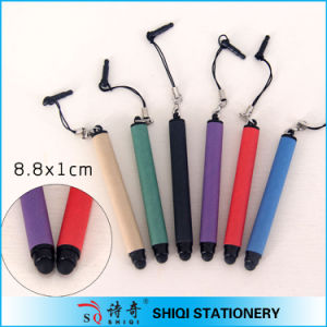 Colorful Paper Small Stylus Touch Pen with Plug