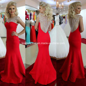 Sheer Party Prom Gown Beading Vestidos Cocktail Evening Dresses E2015123 pictures & photos