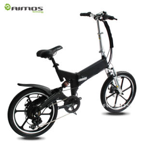 Aimos Wholesale 250W Cheap Small Folding Electric Bike pictures & photos